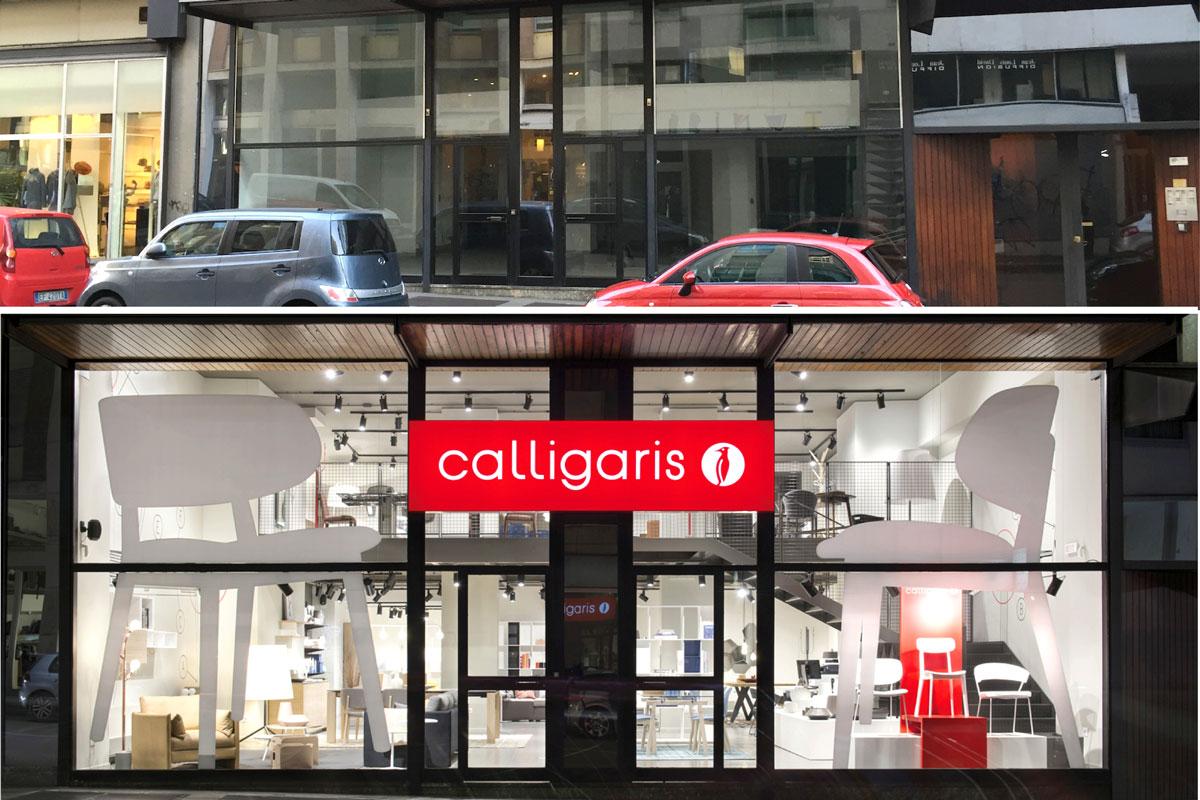 Restyling di interni negozi publiremor for Negozi calligaris milano