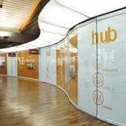 Decorazione cantiere HUB